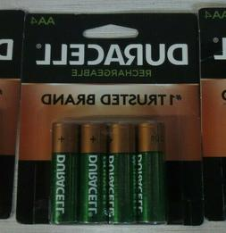 Duracell 1.2V Rechargeable NiMH AA Batteries 4 Pack - CHOOSE