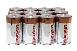 1 Box: 12pcs Tenergy D Size  Alkaline Batteries