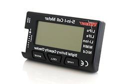 Tenergy 5-in-1 Battery Meter, Intelligent Cell Meter Digital