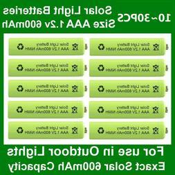 10~30X AAA Rechargeable Solar Light Batteries 1.2v 600mAh Ni