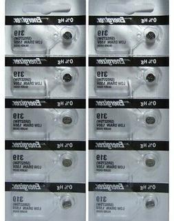 10 Energizer 319 SR527SW SR527 V319 Silver Oxide Watch Batte