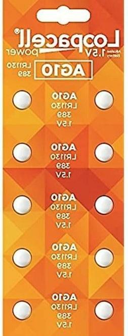 10 AG10 LR1130 LR1131 389A 389  Loopacel 1.5 Volt Alkaline B