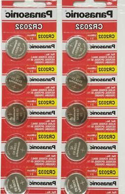 10 PANASONIC CR2032 2032 3V Lithium Coin Battery Expiration