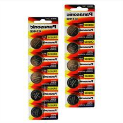 10 PANASONIC CR2032 CR 2032 3v Lithium Battery Expiration da