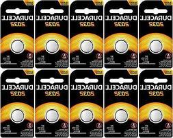 10 Duracell CR2032 Lithium Batteries 3 Volt DL2032 2032