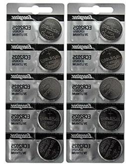 10 FRESH Genuine Energizer CR2025 ECR2025 3V Coin Button Bat