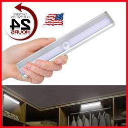 10 led portable motion sensor closet light