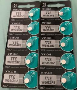 10 New SONY 377 SR626SW 377 1.55V Silver Oxide Watch Batteri