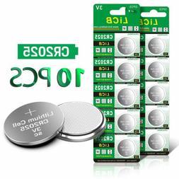10 Pack LiCB 3V CR2025 150mAh Lithium Watch Alarm Calculator