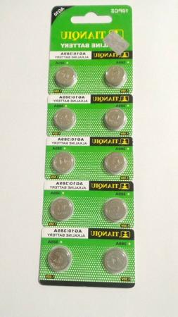10 Pack AG10 LR1130 L1131 LR54 189 389 390 1.5V Alkaline Bat