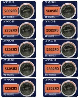 10 Packs Sony CR2032 2032 DL2032 3V Button Lithium Coin Batt