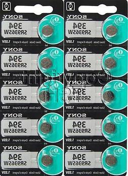 10 pcs 394 SONY Watch Batteries SR936SW FREE SHIP 0% MERCURY