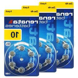 Renata 10 Size Hearing aid batteries Zinc air 1.45V PR70 0%