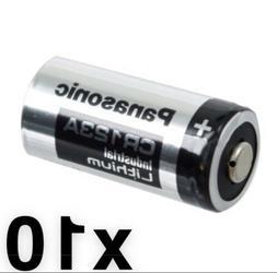 10 TEN Panasonic Lithium CR123A 3V CR17345 Camera Photo Batt