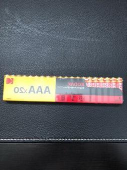 100 Kodak AAA Batteries Super Heavy Duty Zinc Batteries 5 Pa