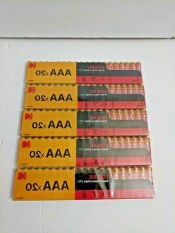 100 Kodak AAA Triple A Batteries Super Heavy Duty 1.5v Batte