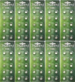 100 Fresh  LOOPACELL Alkaline AG3 LR41 392 SR41SW Watch Batt