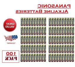 100 Pack - Panasonic AA Alkaline Batteries Factory pack -