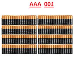 100-Pack Duracell AAA 1.5V CopperTop Alkaline Batteries