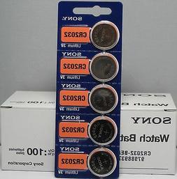 100 PACK FRESH SONY CR2032 CR 2032 3V Lithium Batteries Repl