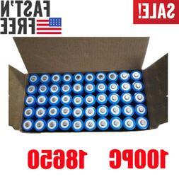 100PCS Li-ion 18650 Battery 3.7V BRC 3000mAH Rechargeable Ba