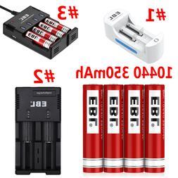 EBL 10440 Li-ion 350mAh 3.7V Rechargeable Batteries / Charge