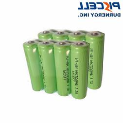 10pcs 1200mAh 1.2V AA Size Ni-MH Rechargeable Batteries For
