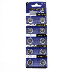 10PCS AG13 LR44 SR44 L1154 357 A76 Button Coin Cell Pack Alk