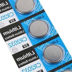 10Pcs CR2032 CR 2032 3V Li-ion Button/Coin Cells Batteries F
