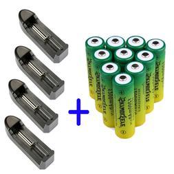 10x 14500/AA Batteries 3.7V 1200mAh Li-ion Lithium Rechargea