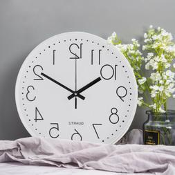 """12"""" 3D Wall Clock Silent Non-ticking Digital Battery Quartz"""