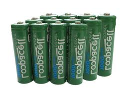 12 Loopacell AA Ni-CD 1000mAh 1.2V Rechargeable for Solar Ba
