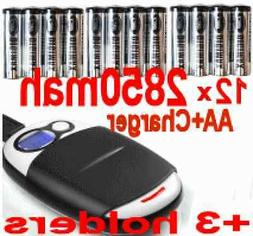 12 AA NiMH Battery+1Hr AA/AAA LCD Charger+AC/USB cable+3 cas