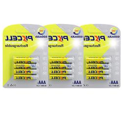 12 AAA 3A Rechargeable Batteries 600mAh Triple A nimh 1.2V V