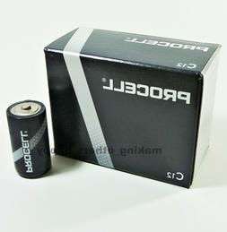 12 Duracell Procell C Alkaline Batteries