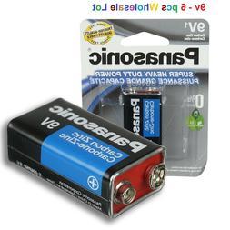 12 Wholesale 9V Bulk Lot Panasonic 9V Batteries Super Heavy