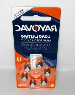 12 x Rayovac Size 13 - 6 Pack Exp. 2020+ 72 Batteries Total