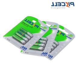 12pcs/3pack PKCELL NIMH 850mAh 1.2V AAA Triple A Rechargeabl