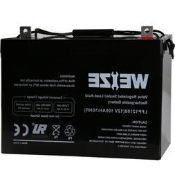 Weize 12V 100AH 100 Amp Hour Sealed AGM Deep Cycle SLA Batte