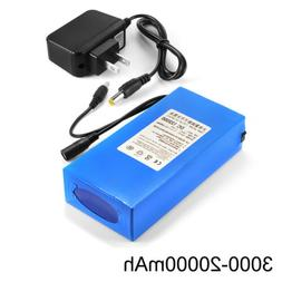 12V 3000-20000mAh Lithium Rechargeable Li-ion Battery Pack+
