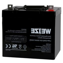 Weize 12V 55AH 22NF Battery For Scooter Wheelchair Mobility