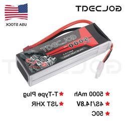GOLDBAT 14.8V 5000mAh 4S LiPo Battery 50C Deans Plug for RC