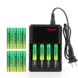 Skywolfeye 14500 Battery 1200mAh Li-ion 3.7V Rechargeable Ba