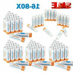 16-80PCS Premium AAA 1000mAh High Capacity NiMH Rechargeable