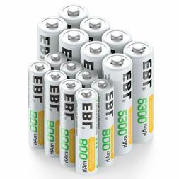 EBL 16 Sets AA AAA Batteries Combo with 8PCS AA 2300mAh &AAA