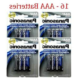 16 Wholesale Panasonic AAA Triple A Batteries heavy Duty Bat