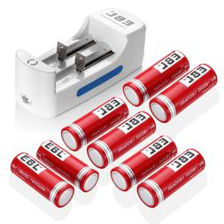 EBL 1600mAh 18500 Li-ion Rechargeable Batteries / Charger Fo