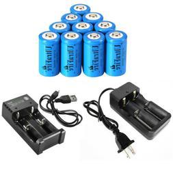 UltraFire 16340 Battery 1800mAh CR123A Rechargeable 3.7V Li-
