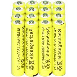 16AAA Rechargeable Batteries NiMH 1800mAh 1.2v Garden Solar