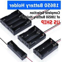 18650 Battery Case Box Holder 3.7V 1X 2X 3X 4X 18650 Plastic